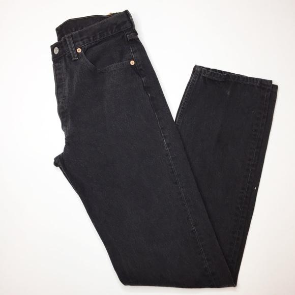 Levi's Denim - RARE Vintage Levi's 501 black high rise cotton USA